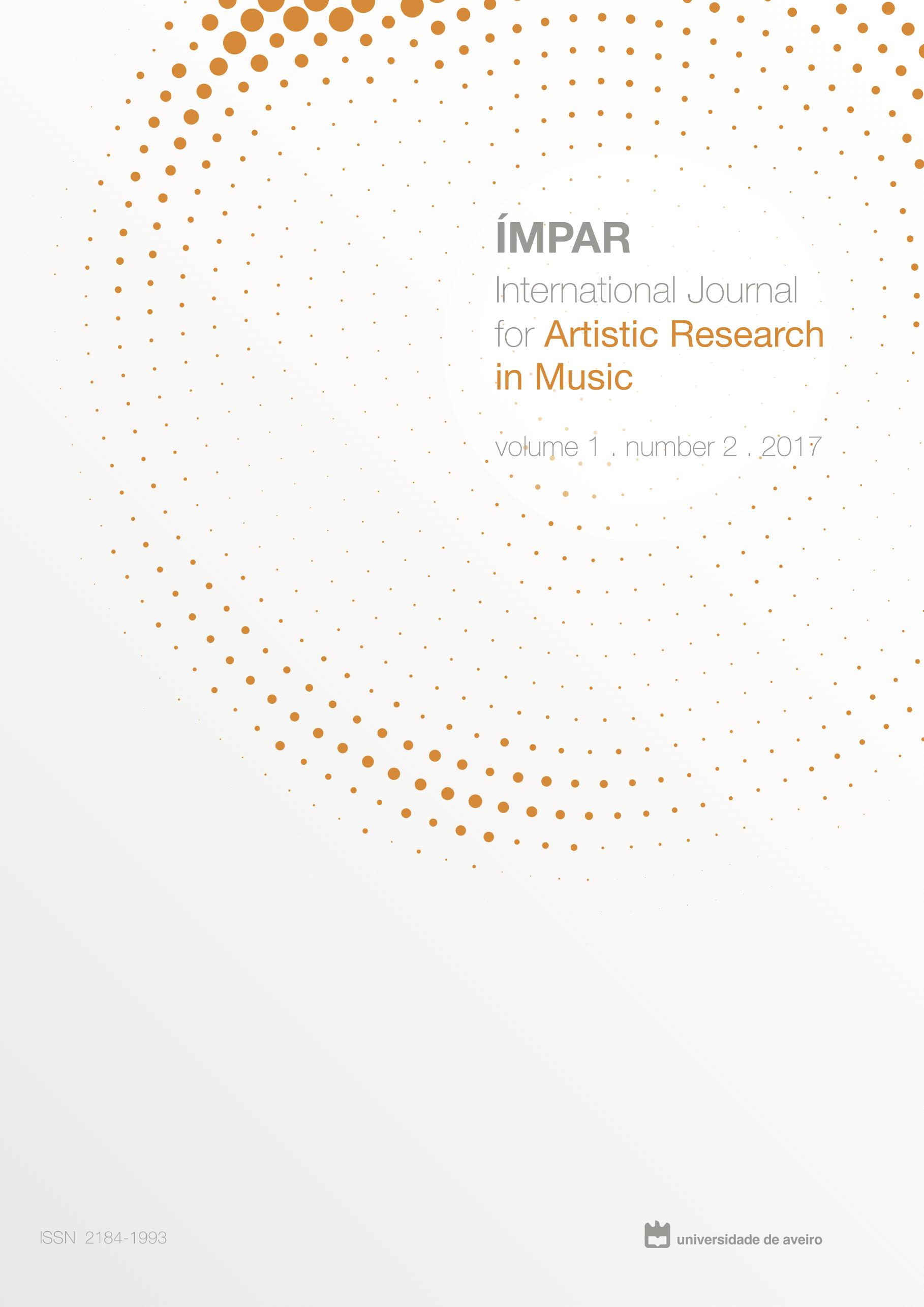 Imagem da capa do vol.1, nº2 (2017) da revista IMPAR