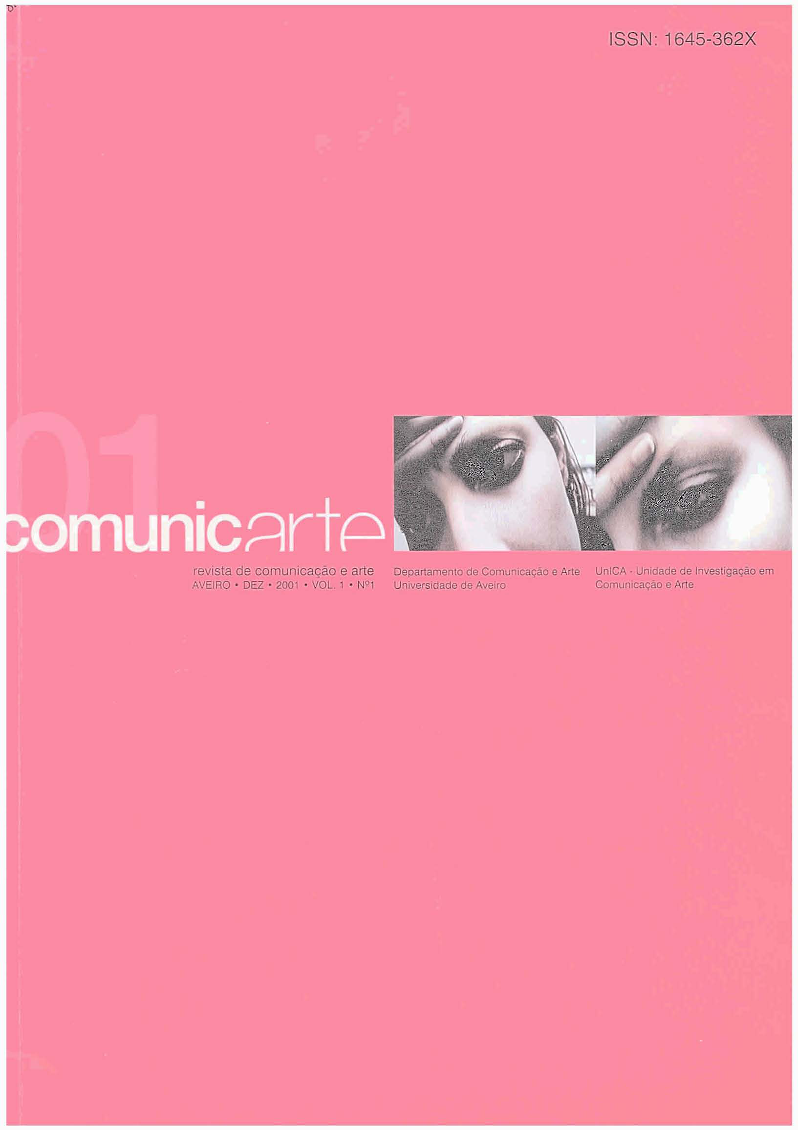 Capa do volume 1, número 1 (2001) da revista Comunicarte.