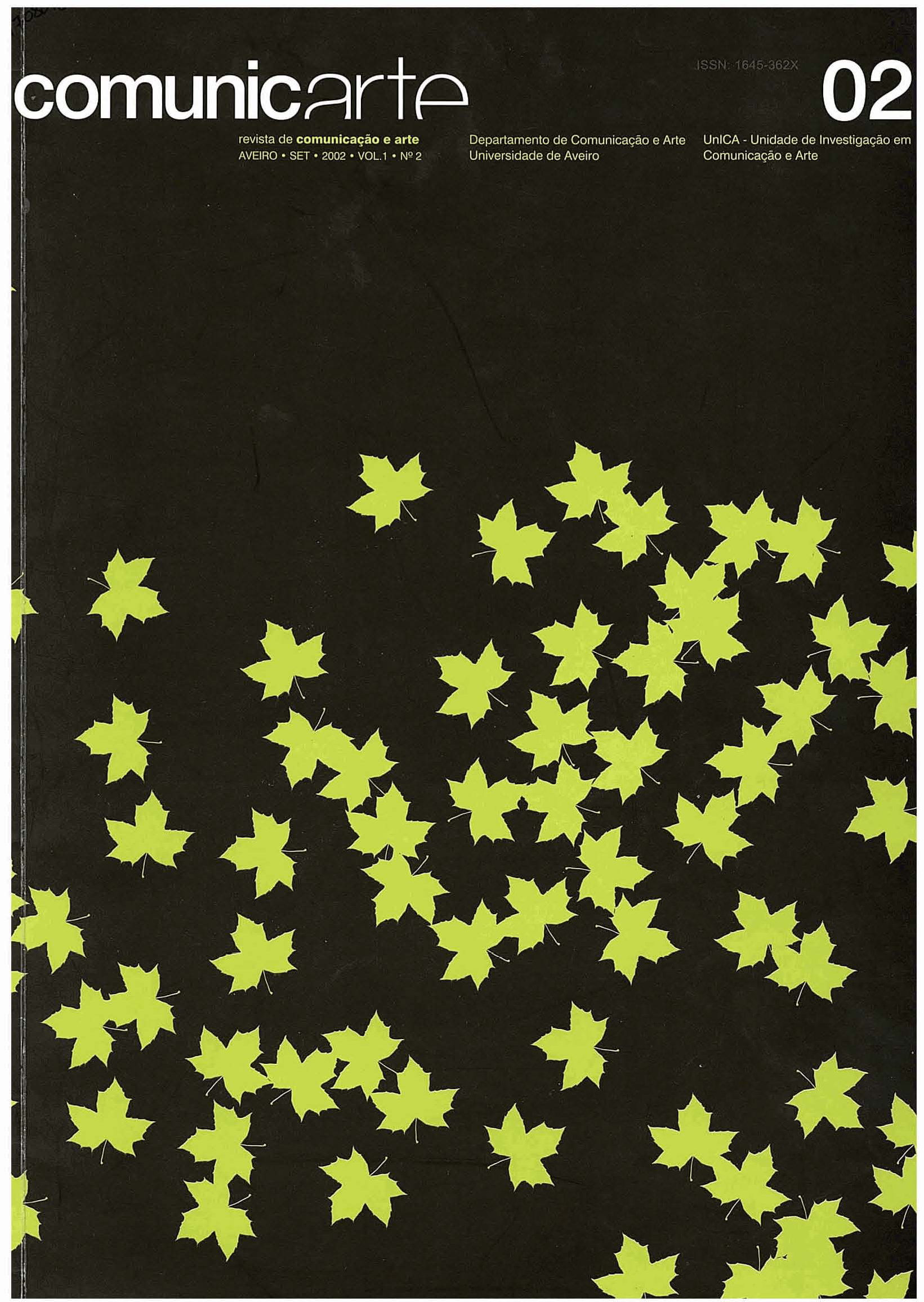 Capa do volume 1, número 2 (2002) da revista Comunicarte.