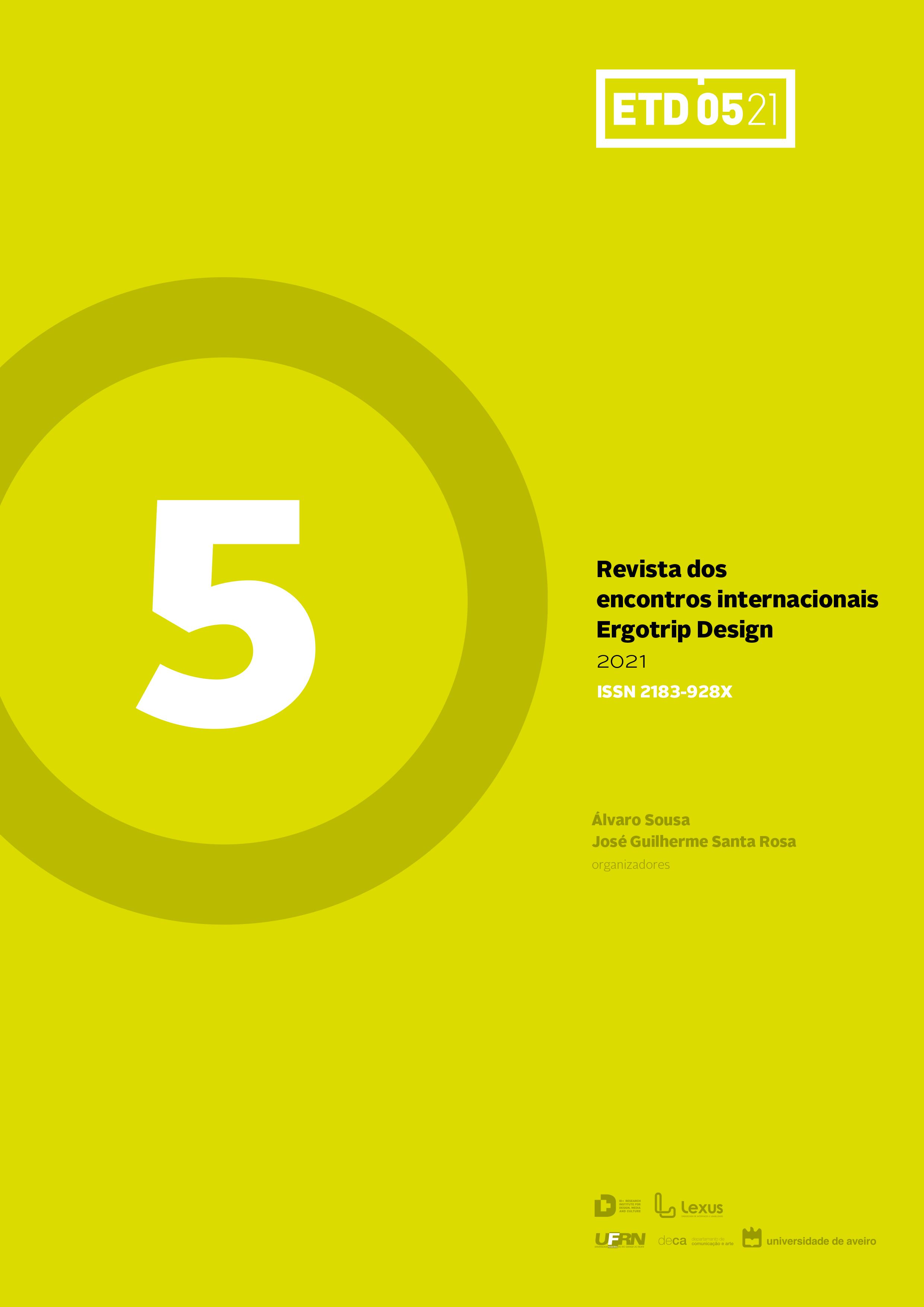 Capa do nº5 da revista dos encontros internacionais Ergotrip Design